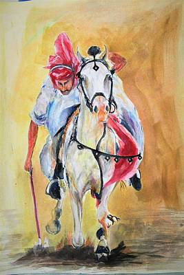 Painting - Horse And Horseman by Khalid Saeed