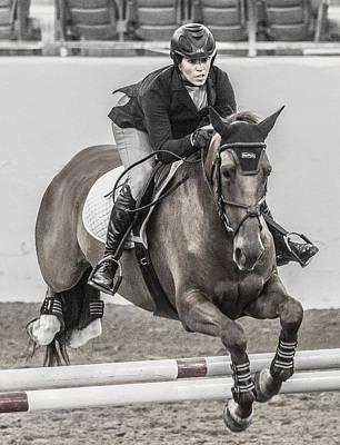 Warmblood Horse Photograph - Horse And Rider by Betsy Knapp