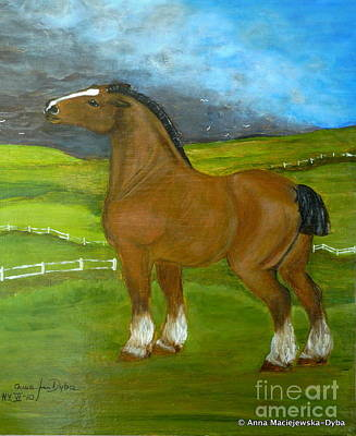 Horse And The Storm Art Print