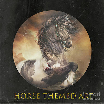 Mixed Media - Horse Art Logo by Shanina Conway