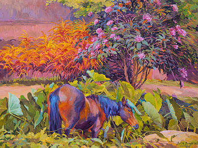 Painting - Horse At Hiva Oa Island by Judith Barath