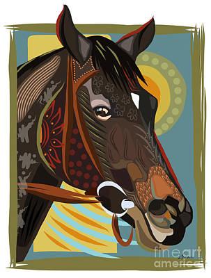 Horse Attitude Art Print by Dania Sierra
