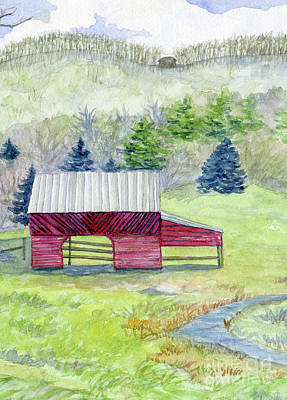 Painting - Horse Barn by Anne Marie Brown