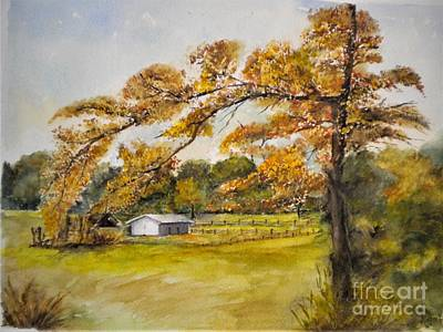 Painting - Horse Barn In Fort Mill by Madie Horne