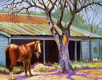 Mike Martin Painting - Horse Barn by Mike Martin