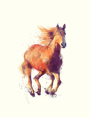 Wild Horses Painting - Horse // Boundless by Amy Hamilton