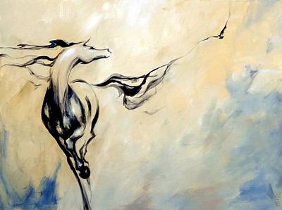 Painting - Horse Calling Crow by Dina Dargo