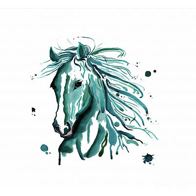 Beautiful Cowgirl Art Painting - Horse Canvas Art  by Gull G