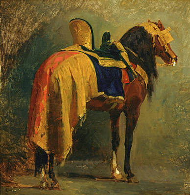 Isidore Pils Painting - Horse Caparisoned by Isidore Pils