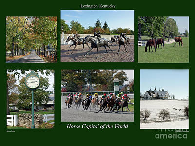Equine Photograph - Horse Capital Of The World by Roger Potts