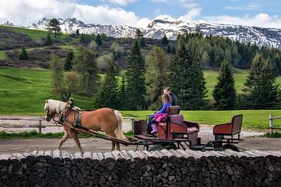 Photograph - Horse Carriage In Alpe Di Siusi by Carolyn Derstine