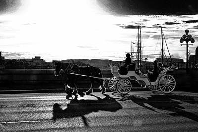 Photograph - Horse Carriage Sunset by Brian Sereda