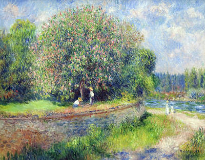 Painting - Horse-chestnut Tree In Flower by Pierre-Auguste Renoir