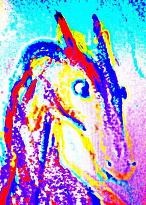 Horse Climbing The Wall Of Life  Art Print