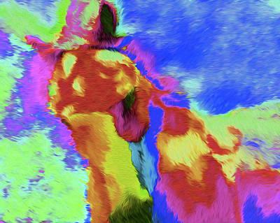 Horse Cloud By Nixo Art Print