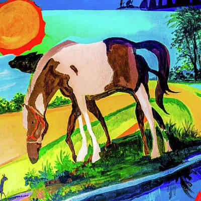 Mixed Media - Horse by Daniel De Blasio