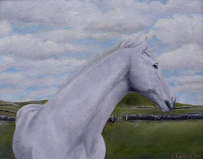 Art Print featuring the painting Horse by Diane Daigle