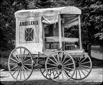 Photograph - Horse Drawn Ambulance  by Ken Morris