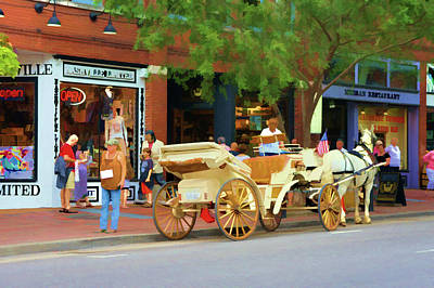 Horse-drawn Carriage In Nashville, Tennessee Art Print