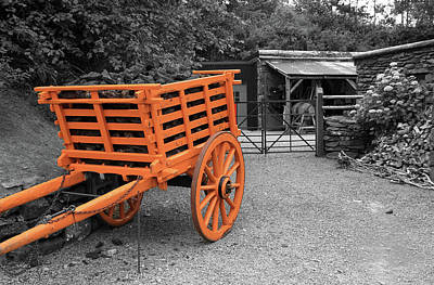 Photograph - Wooden Horse Drawn Cart by Aidan Moran