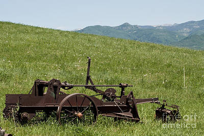 Art Print featuring the photograph Horse Drawn Ditch Digger by Daniel Hebard