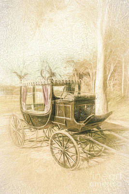 Old Farm Drawing - Horse Drawn Funeral Cart  by Jorgo Photography - Wall Art Gallery