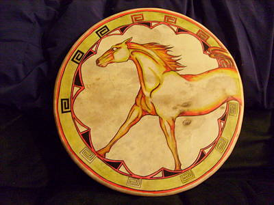Horse Drum Art Print by Angelina Benson