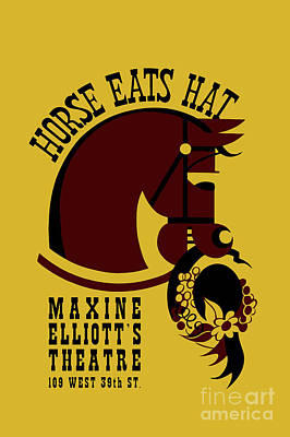 Animals Drawings - Horse eats hat by Aapshop