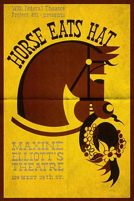 Horse Eats Hat - Maxine Elliot's Theatre - Vintage Poster Folded Art Print