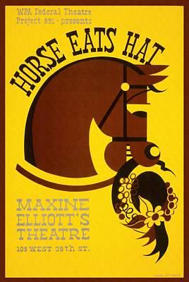 Horse Eats Hat - Maxine Elliot's Theatre - Vintage Poster Restored Art Print