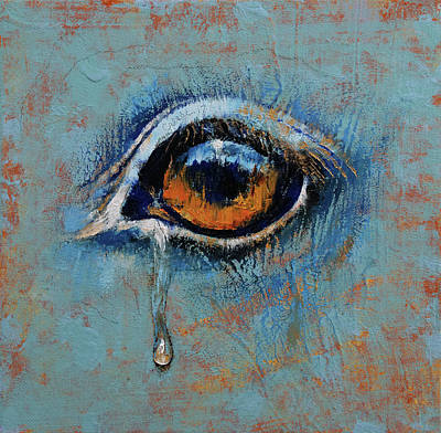 Tr Painting - Horse Eye by Michael Creese