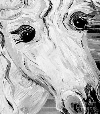Impressionistic Painting - Horse Eyes by Eloise Schneider