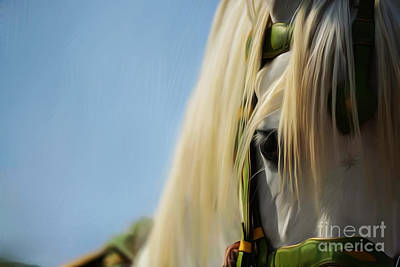 Animal Faces Painting - Horse Face 0968 by Gull G