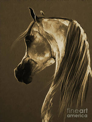 Suckling Painting - Horse Face 701 by Gull G