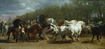 Run Painting - Horse Fair by Celestial Images