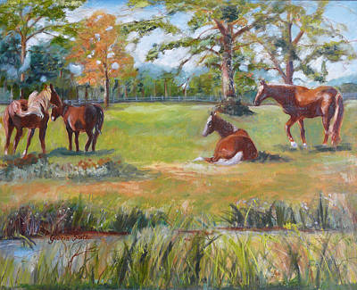 Horse Farm In Georgia Art Print
