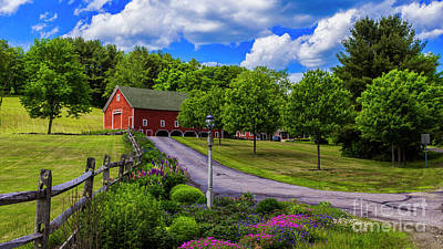 Horse Farm In New Hampshire Art Print