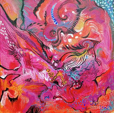 Painting - Horse Feathers by Expressionistart studio Priscilla Batzell