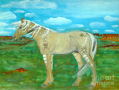 Folkartanna Painting - Horse From The Kid's Dreams by Anna Folkartanna Maciejewska-Dyba