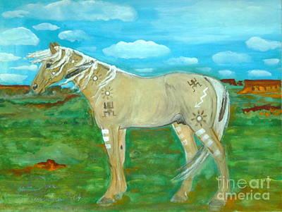 Polish American Painters Painting - Horse From The Kid's Dreams by Anna Folkartanna Maciejewska-Dyba