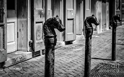 Photograph - Horse Head Iron Posts French Quarter Nola by Kathleen K Parker