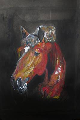 Painting - Horse Head by Khalid Saeed