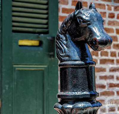 Photograph - Horse Head Post - Nola  by Kathleen K Parker