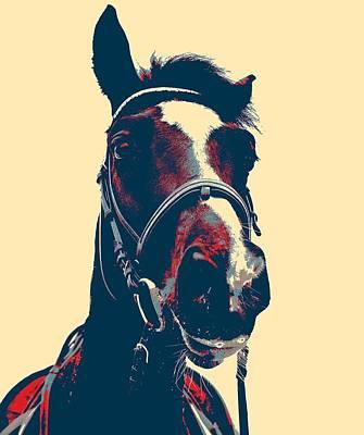 Horse Head Poster Art Print