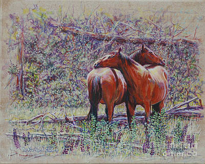 Painting - Horse Hugs by LeRoy Jesfield