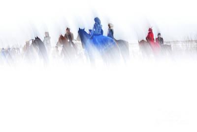 Photograph - Horse Hunt #8017 by Andrey Godyaykin