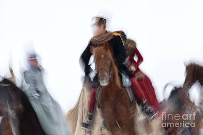 Photograph - Horse Hunt #8022 by Andrey Godyaykin