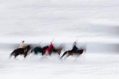 Photograph - Horse Hunt #8111 by Andrey Godyaykin