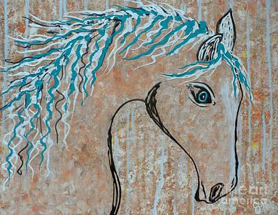 Painting - Horse In Flowing Breeze by JoNeL Art