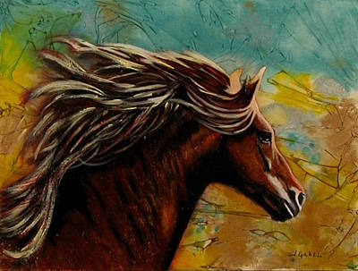 Wall Art - Painting - Horse In Heaven by Laura Gabel